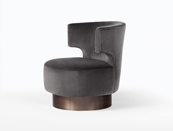 HOLLY HUNT Mesa Occasional Chair.  Contact Avondale Design Studio for information on purchasing any of the products we highlight on Pinterest. We can often provide significant savings over retail pricing.