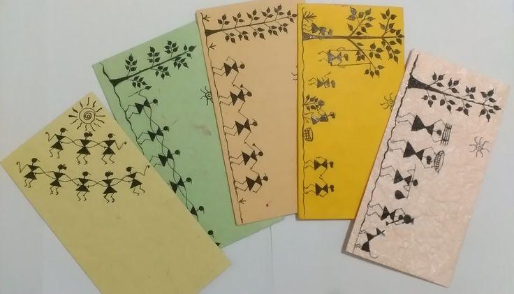 warli painting on envelopes