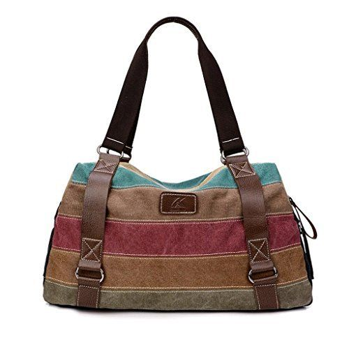 New Trending Shopper Bags: Melord Canvas Multi-color Stripes Casual Tote Handbags Top Handle Cross Body Bag for Women. Melord Canvas Multi-color Stripes Casual Tote Handbags Top Handle Cross Body Bag for Women   Special Offer: $28.49      244 Reviews Multi-color Stripes messenger bag / tote bag / cross-body bag / handbag Material: Made of canvas and polyester fiber,washable Feature:1,Multiple pockets...
