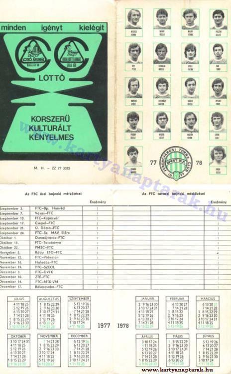 1977 - 1977_0716 - Régi magyar kártyanaptárak