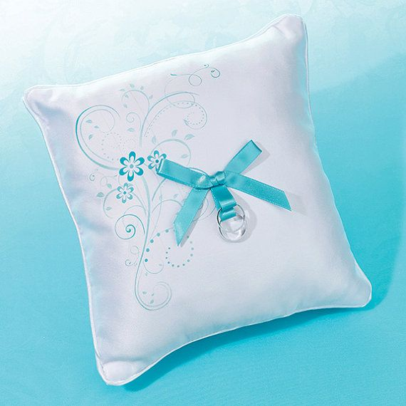 Aqua Ring Pillow  Attractive by BubbaCo on Etsy, $18.99