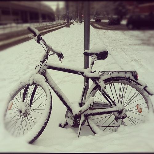 Snowy Morning in Vienna #Jitensha, #Bicycle, #bicicleta #Fahrrad, #Bisikleta #snow #winter