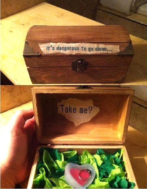 Il Signore degli Anelli: proposte di matrimonio originali per coppie geek. The Legend of Zelda