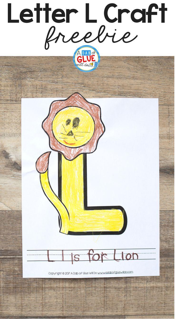 Animal Alphabet L is for Lion Craft Letter l crafts