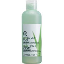 The Body Shop's Aloe range - super gentle and the products I've tried so far (toner, serum & eye cream) have been completely fragrance free! They feel very cooling and nourishing on my skin, even the toner felt hydrating which I was surprised with! Definitely recommend (:
