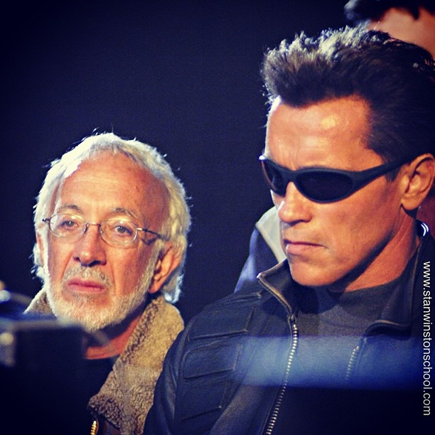 Arnold - one of the best actors. Terminator - one of the best sci-fi films ever. Stan - one of the best special effects supervisor and make-up artist.  On set of T3