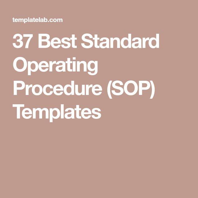 37 Best Standard Operating Procedure (SOP) Templates