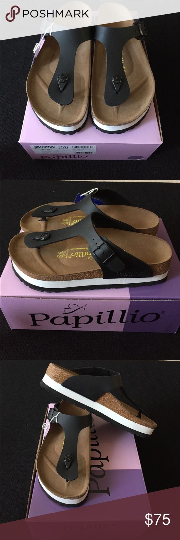 BIRKENSTOCK PAPILLIO GIZEH PLATFORMS BRAND NEW, 39 L8 M6 250 Birkenstock Shoes Sandals