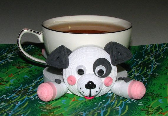 Coasters for drinks Dog Dalmatian Stand for the by QuillingLife