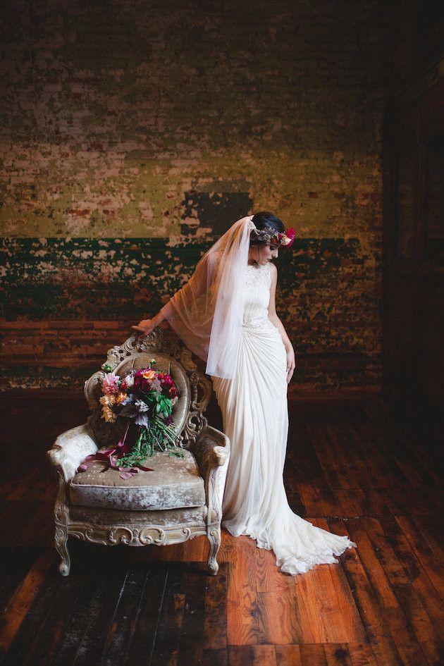 Draped wedding dress | Izzy Hudgins Photography | Bridal Musings Wedding Blog