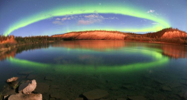 A Northern Lights Rainbow! Yukon Canada