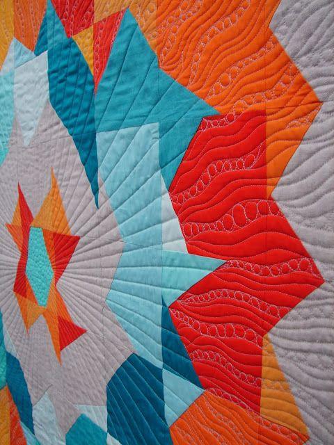 Love the quilting on this Supernova / Tallgrass Prairie Studio