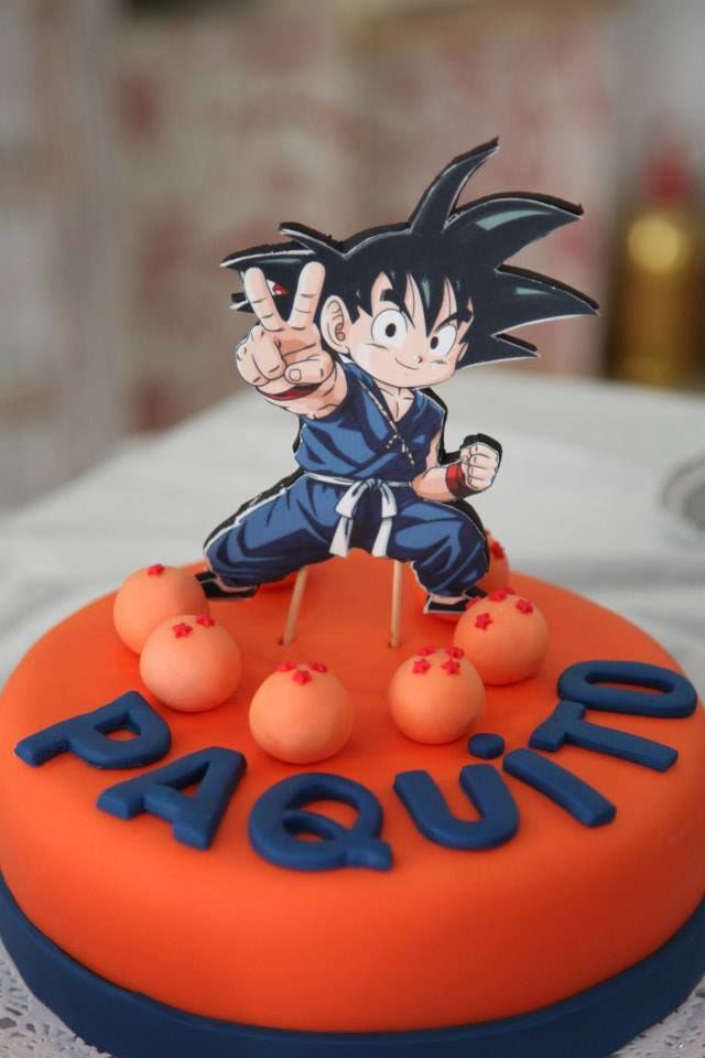 Dragon ball cake, bola de drac, goku