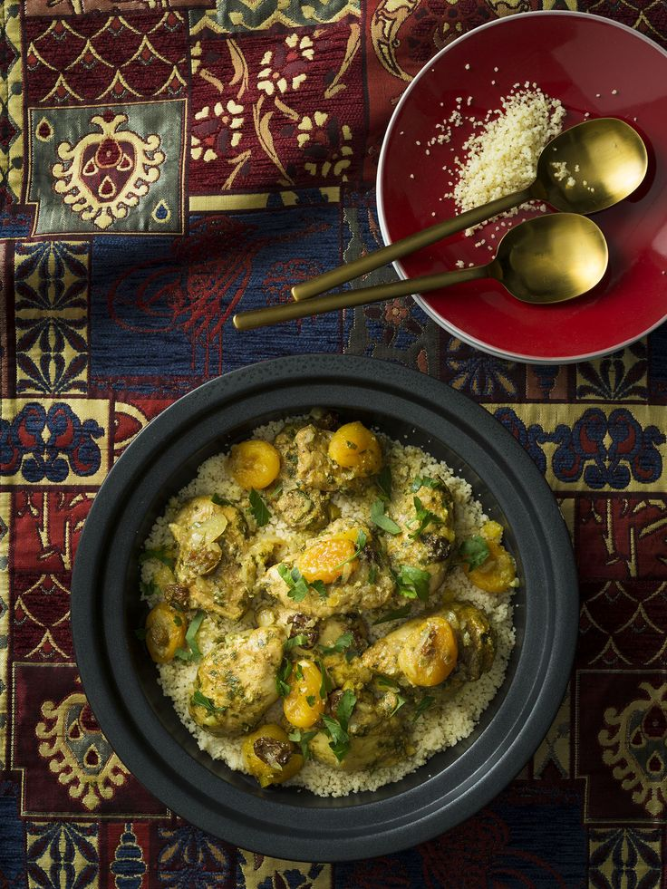 Moroccan chicken with couscous | 2017 Thermomix Calendar