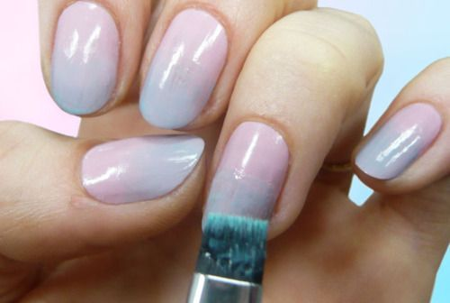Tap in to spring's biggest trends—ombre and pastel—with this super chic (and super easy!) nail art tutorial.: Nails Colour, Easy Nails Art, Trends Ombre, Nail Art Tutorials, Nails Art Tutorials, Pastel Nail Art, Gradient Nails, Spring Biggest, Pastel Nails Art