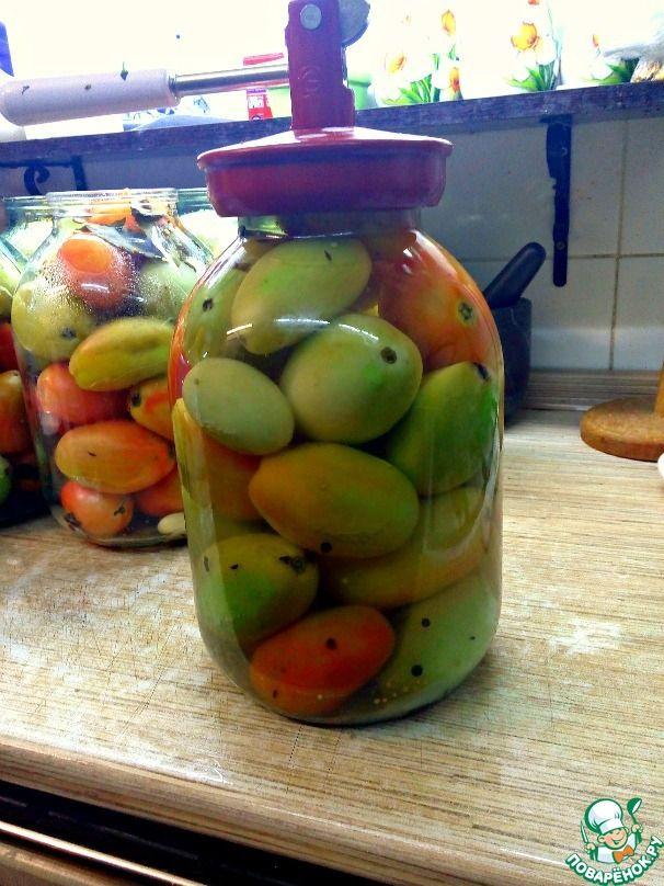 Зеленые помидоры в пряном маринаде ингредиенты