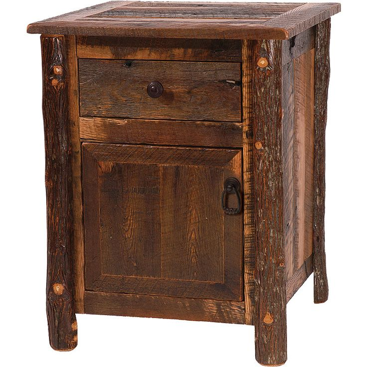 rustic end tables google search