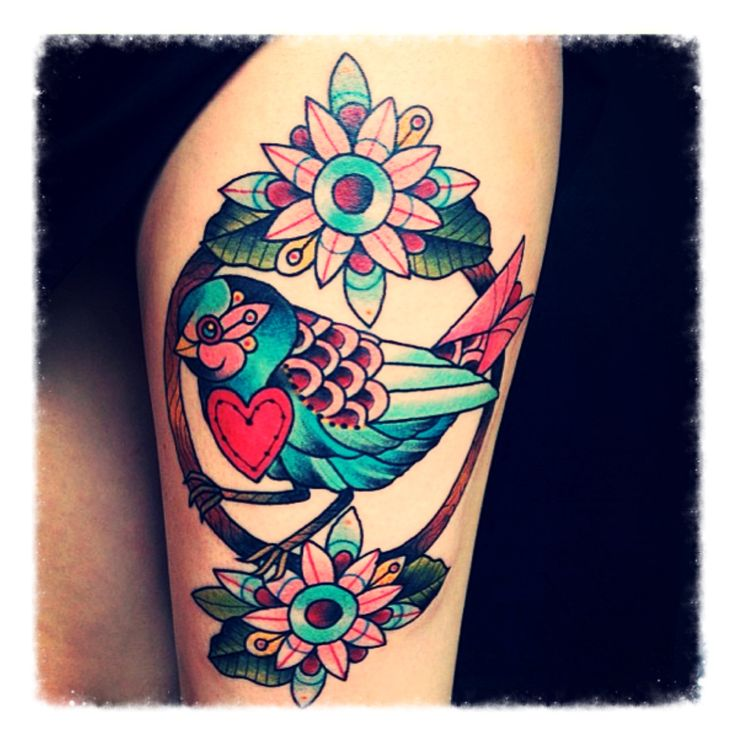 Birds represent season of change and freedom to fly. I love this tat