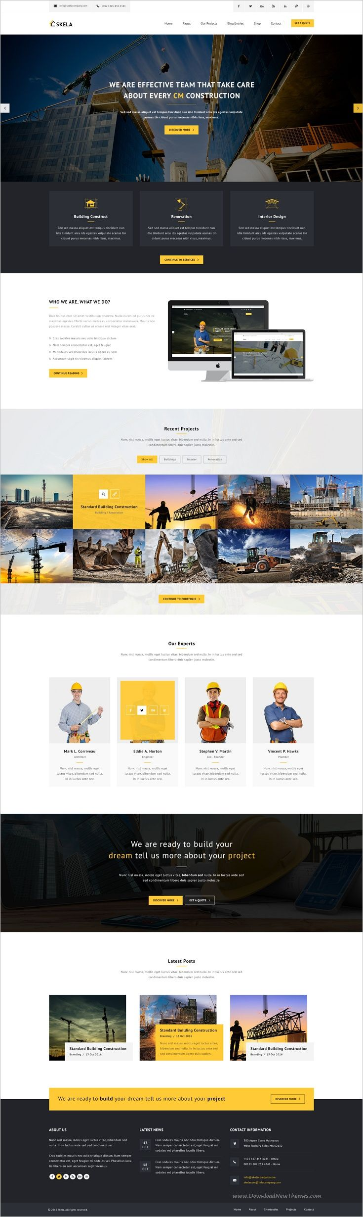 Skela is a wonderful #PSD #theme for #construction & building companies which are looking for clean and modern design for their #website download now➩ https://themeforest.net/item/skela-construction-building-psd-template/18583666?ref=Datasata