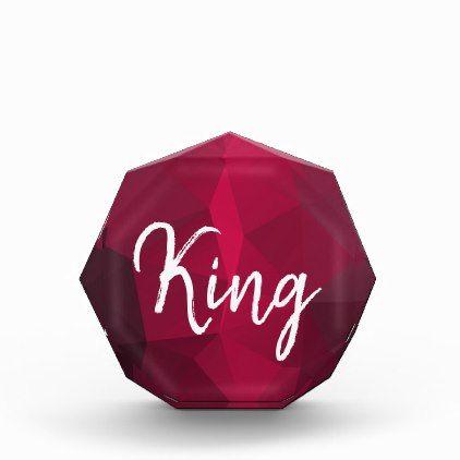 #Custom Dark King Award Template Geometric Photo Block - cyo customize design idea do it yourself diy
