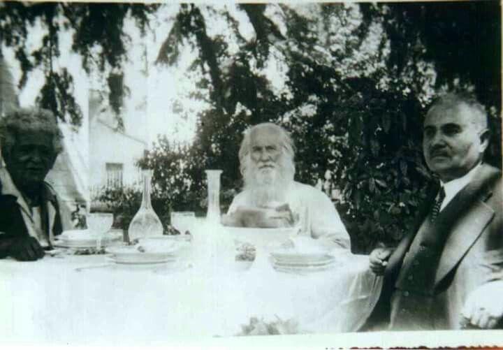 Nuri Demirağ ve yakın dostları Neyzen Tevfik ve Filozof Ali Rıza Bölükbaşı.