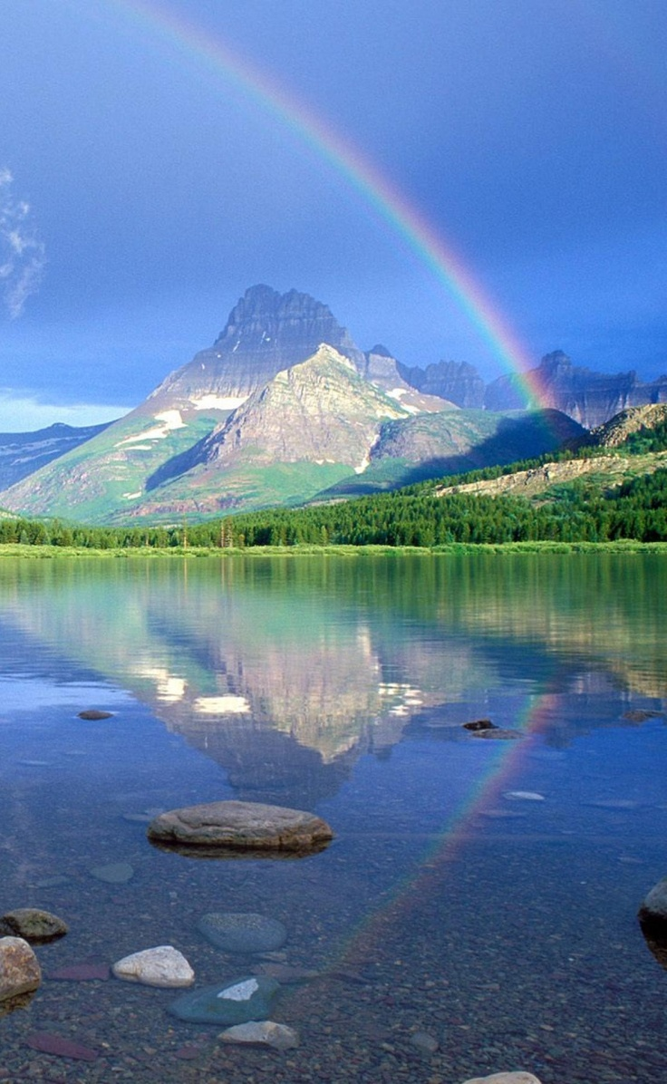 rainbow nature rainbows colors beauty amazing scenery picturesque pretty sky promise somewhere god double magic mother eagle coolupon tweet
