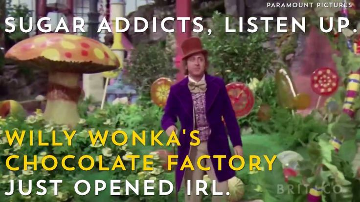 An IRL Willy Wonka's Chocolate Factory!