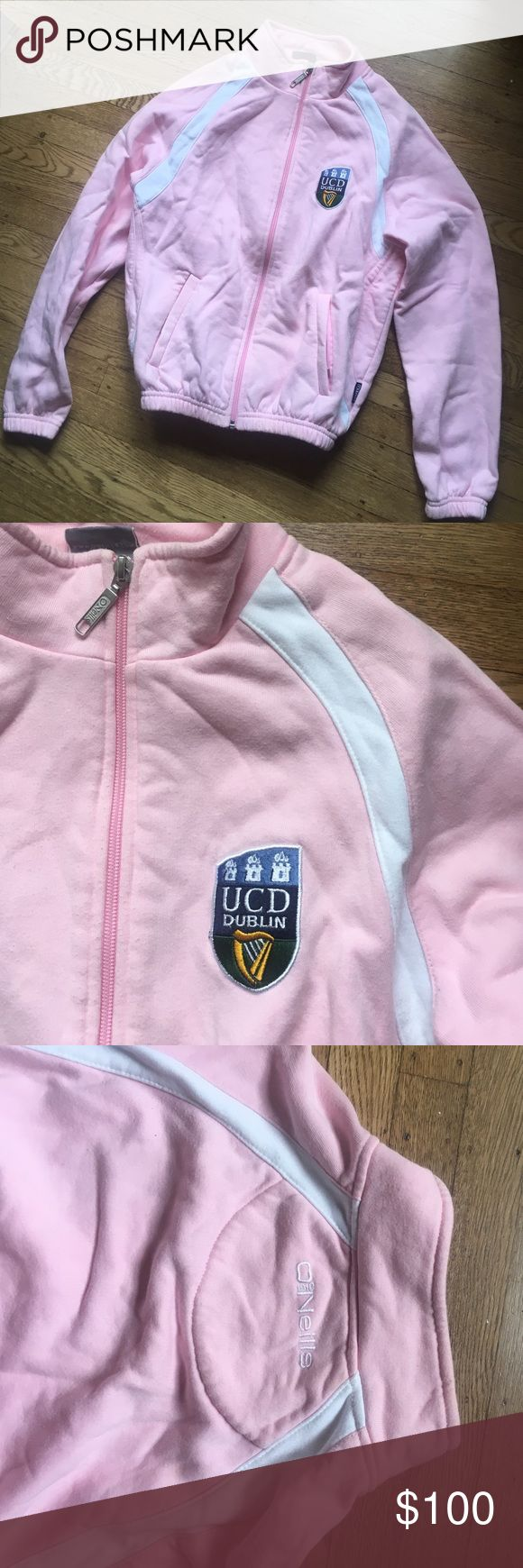 University College Dublin UCD pink track fleece Only worn a few times - I bought this when I studied in Dublin in college Jackets & Coats Utility Jackets