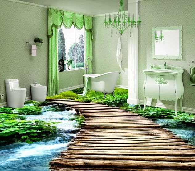 Epoxy 3d Floor Everything You Need To Know Badezimmer 3d 3d Fussboden Moderne Toilette
