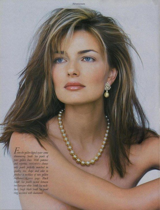Beautiful hair on Paulina Porizkova (still most beautiful model ever!)