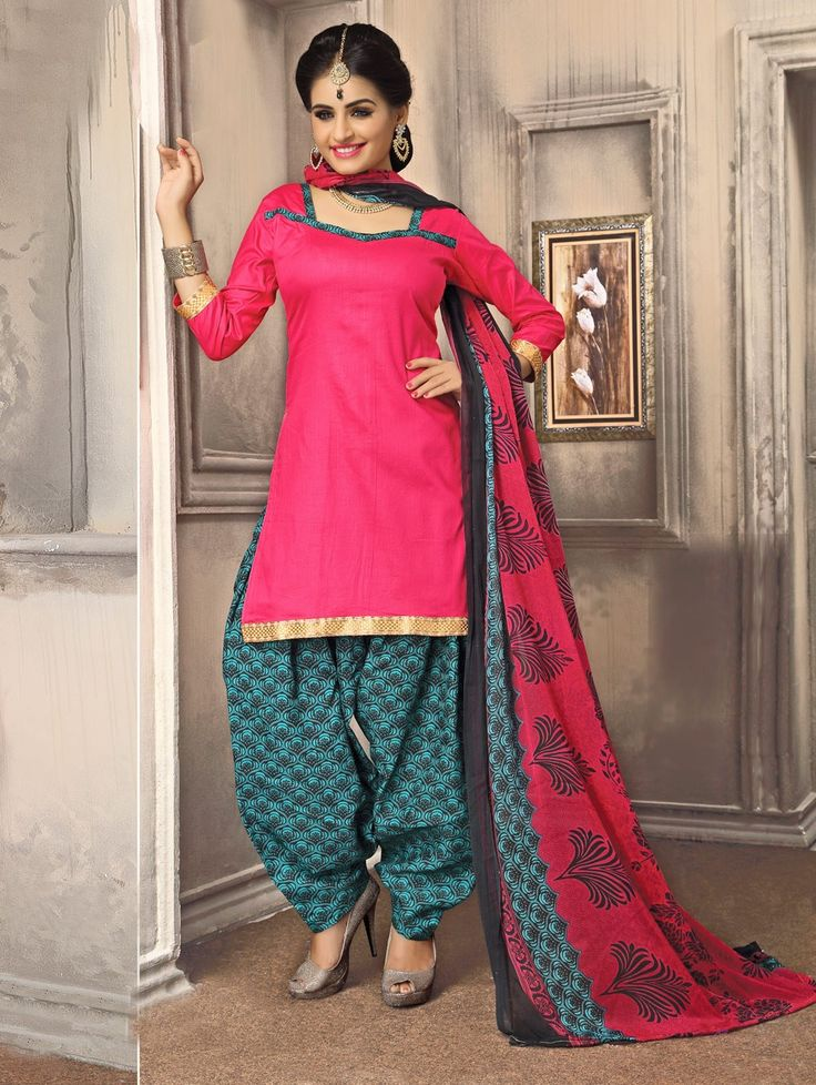 Pink Cotton Suit with Zari Work