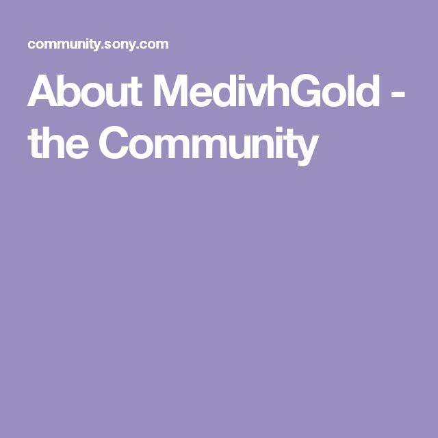 About MedivhGold - the Community