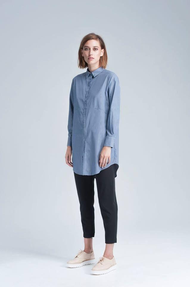 BC - Paper Stripe Shirtdress