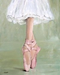 Ready to Frame Print  - Pointe Shoes - Postage is included Worldwide
