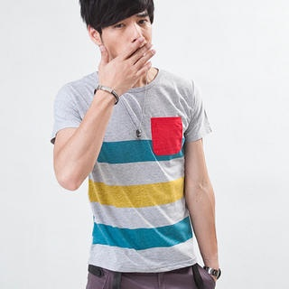 MR.PARK  Short-Sleeve Color-Block T-Shirt