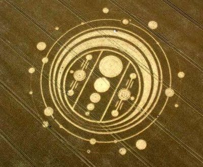 Crop Circle appeared at Windmill Hill, near Avebury Trusloe, Wiltshire on