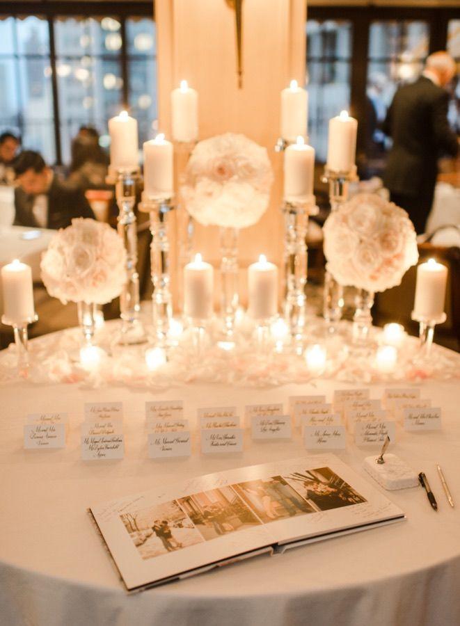 Pristine White New York Wedding Guest Book Tablecake Tablereception Ideaswedding