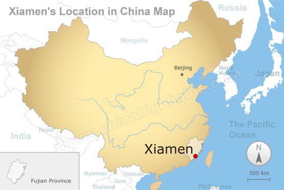 xiamen location in china