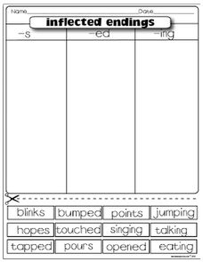 Printables Inflectional Endings Worksheet 1000 images about inflection endings on pinterest students classroom freebies inflected endings