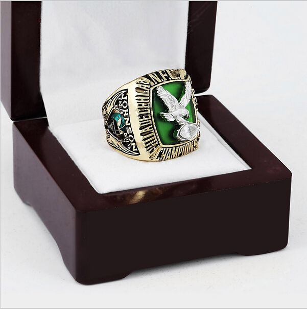 >> Click to Buy << Replica 1980 PHILADELPHIA EAGLES NFC Football Championship Ring Size 10-13 With High Quality Wooden Box Fans Best Gift #Affiliate