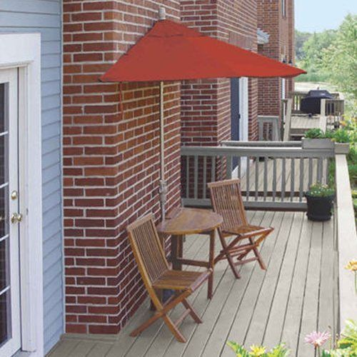 Terrace Mates Standard Bistro Outdoor Patio Set 9 Red Olefin Umbrella **  Details Can Be Found By Clicking On The Image.