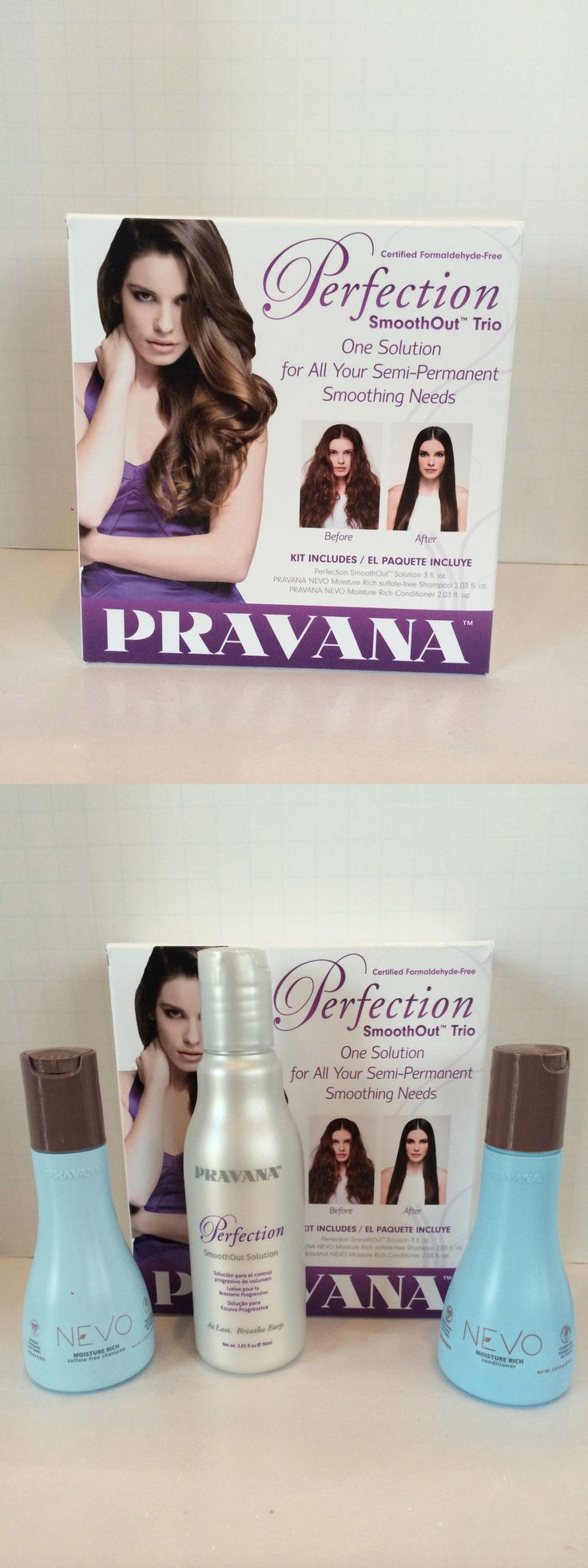Relaxers and Straightening Prod: Pravana Perfection Smoothout Trio - Shampoo, Conditioner And Smooth Out Solution -> BUY IT NOW ONLY: $47.47 on eBay!