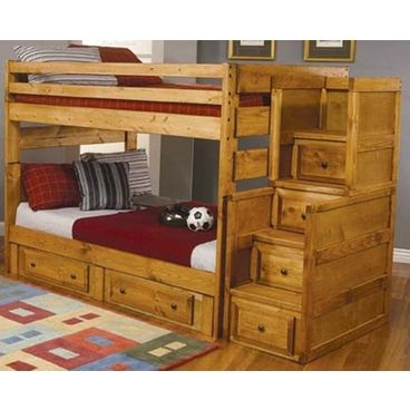 Abbey Full Over Full Solid Wood Bunk BED - Oak