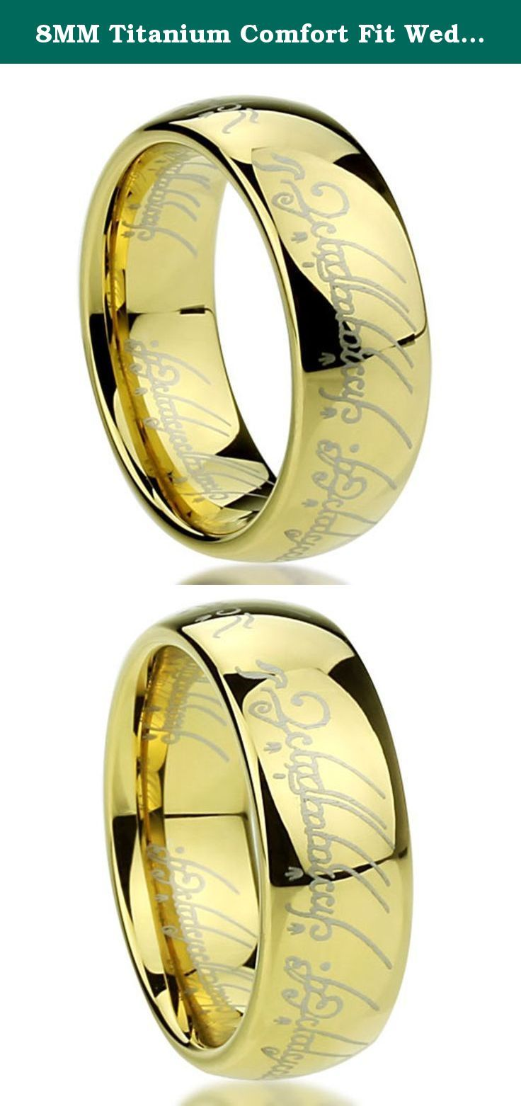 8MM Titanium Comfort Fit Wedding Band Laser Etched Old Letter Pattern Lord Rings ( Size 6 to 14 ), 8. 8MM Titanium Comfort Fit Wedding Band Laser Etched Old Letter Pattern Lord Rings ( Size 6 to 14 ), 8 Comfortable, durable. Titanium.