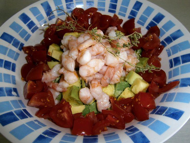 Insalata di gamberi,avocado e pomodorini . salad with shrimp, avocado and little tomatoes  http://arrangerchef.com/?page_id=699