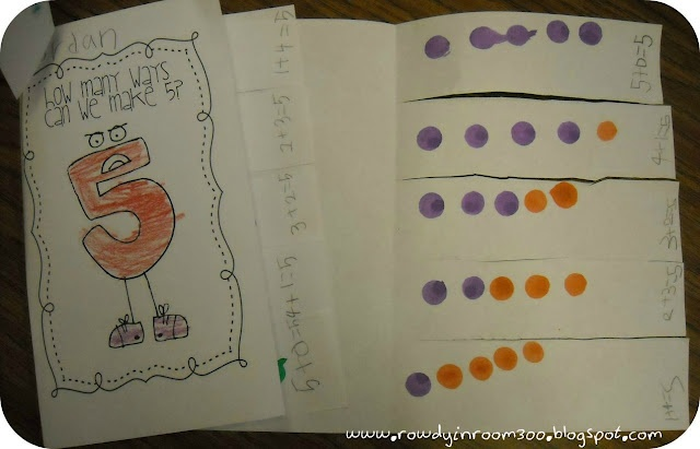 great for a writing activity after we do the problems with our number bonds bracelets.