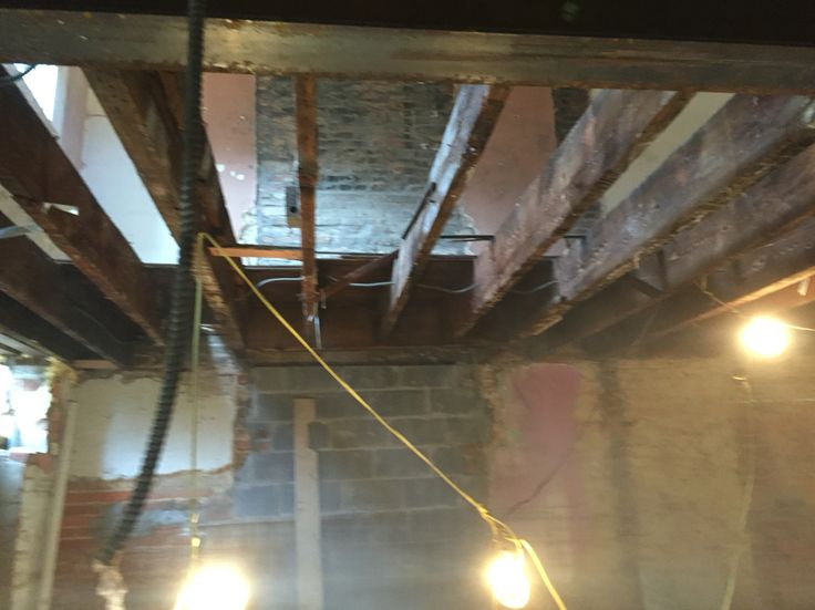Ventura's Carpentry framing historical 1800's renovation, sistering joists with TGI's (Ibeams) Washington D.C.