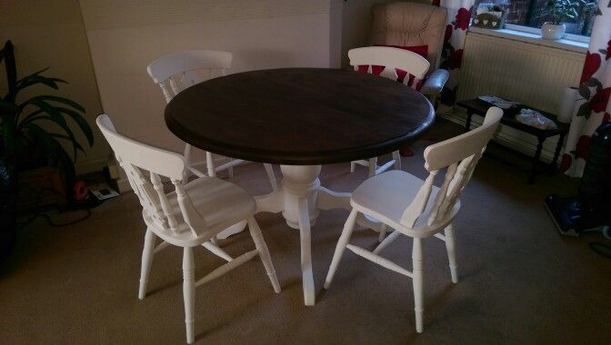 After table and chairs shabby