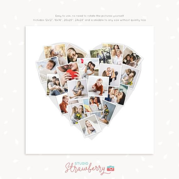 Heart Shaped Collage Template Heart Shaped Photo Collage Heart