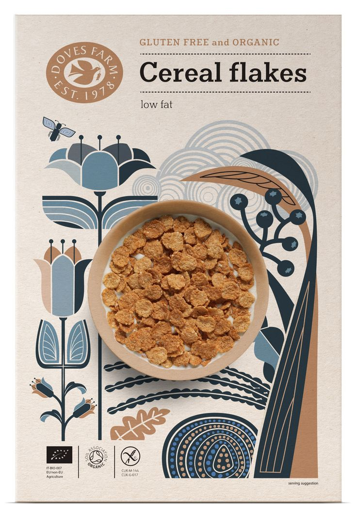 Doves Farm gluten free cereal packaging design - Studio h